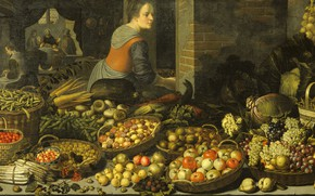 Picture oil, picture, canvas, 1651, Floris van Schoten, Still life with fruit ..., Floris van Schooten