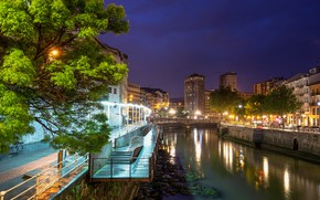 Picture lights, the evening, Spain, Bilbao