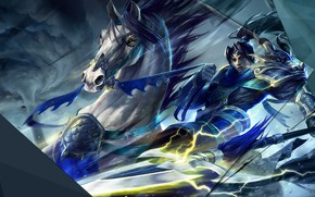 Picture horse, guy, League of Legends, Xin Zhao