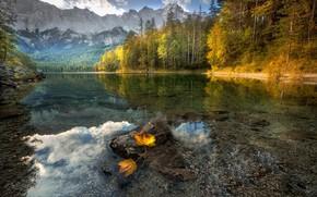 Picture autumn, mountains, lake