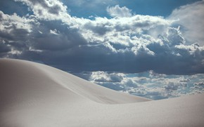 Picture sand, the sky, clouds, nature, desert