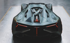 Picture Auto, Lamborghini, Machine, Art, Rendering, Supercar, Hypercar, Lamborghini The Third Millennium, The Third Millennium, Transport …