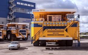 Wallpaper auto, giant, Volga, dump truck, BelAZ