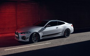 Picture road, car, machine, BMW, BMW, white, drives, side, rooms, coupe, coupe, BMW M4, the white …