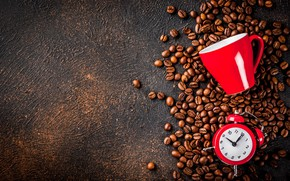 Picture background, watch, coffee, coffee beans, checker