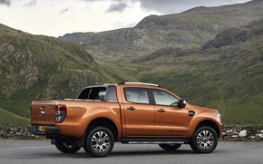 Picture mountains, Ford, Parking, pickup, Ranger, Wildtrak
