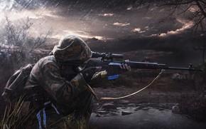Picture art, Stalker, sniper, Stalker, rifle, art, SVD, by Jan Verner