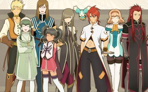 Picture anime, art, characters, Tales of the Abyss