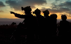 Picture dawn, army, soldiers