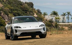 Picture Porsche, front view, 2018, Mission E, Cross Turismo