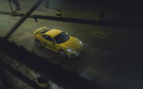 Picture machine, movement, Porsche, Cayman, sports car, GT4, 718