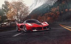 Picture Red, Auto, Road, The game, Machine, Ferrari, Supercar, Sports car, Driveclub, Blind Sarathonux, Ferrari FXX-K, …