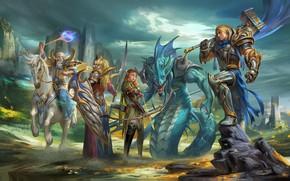 Wallpaper the game, fantasy, art, character, april dede, prepare for war