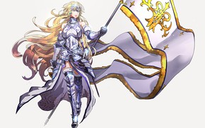 Picture girl, background, flag, Fate / Grand Order, The destiny of a great campaign