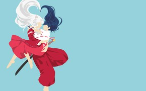Picture love, pair, two, Inuyasha, Kagome, InuYasha