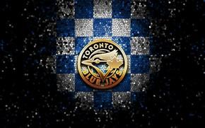 Picture wallpaper, sport, logo, baseball, glitter, checkered, MLB, Toronto Blue Jays