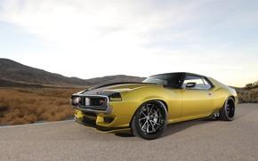 Picture Asphalt, Lights, Drives, Muscle car, 1972, Classic car, Sports car, AMC, HRE Wheels, AMC Javelin, …