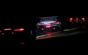 Picture night, race, coupe, BMW, 2019, M6 GT3, in the headlights