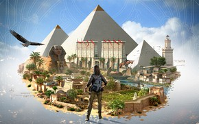 Picture girl, pyramid, Assassin's Creed