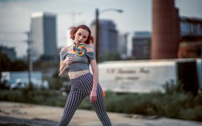 Picture girl, pose, candy