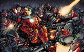 Picture Style, Battle, Fantasy, Iron man, Art, Art, Robot, Robots, Style, Fiction, Iron Man, Fiction, Illustration, …