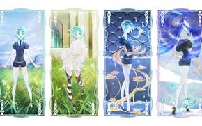 Picture collage, anime, art, house no kuni, phosphophyllite