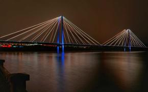 Picture bridge, the city, river, Krasnoyarsk