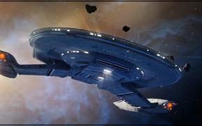 Picture ship, Space, Star Trek, Spaceship, Fan Art, Starship, by Kurumi Morishita, Startrek, Kurumi Morishita, by ...
