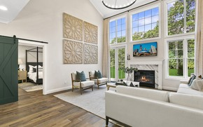 Picture Villa, interior, fireplace, living room, Beechwood Home