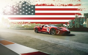 Wallpaper Ford, Muscle, USA, RED, America, SuperCar