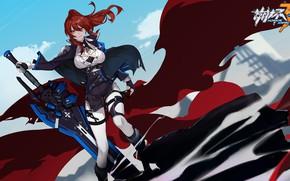 Picture girl, the game, anime, Honkai Impact 3rd