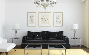 Picture design, sofa, chair, pictures, living room, modern