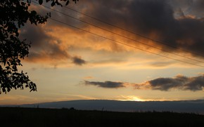 Picture the sky, sunset, clouds, village, Belarus, my photo, Crackers