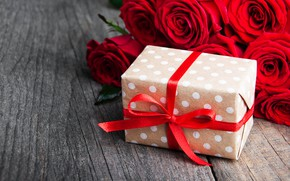 Picture gift, roses, red, Olena Rudo