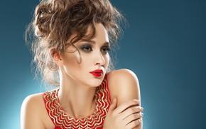 Picture girl, pose, portrait, makeup, model, YURI ILUHIN