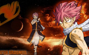 Picture anime, art, Background, Fairy Tail, Natsu, Fairy tail