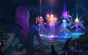 Picture Lux, Ahri, Soraka, Syndra, League Of Legends, Miss Fortune, Lulu, Ezreal, Star Guardians