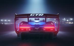 Picture machine, light, night, McLaren, GTR, spoiler, Senna, track car