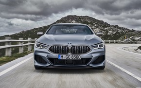 Picture coupe, mountain, BMW, front view, Gran Coupe, 8-Series, 2019, the four-door coupe, Eight, G16, steel …