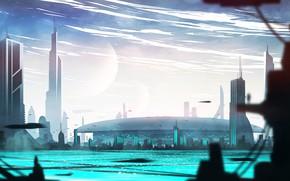 Picture the city, building, construction, pond, Galactic Senate