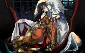 Picture girl, two, Inuyasha, Inuyasha, Seshoumaru