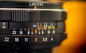Picture Orange, black, Lens, Takumar