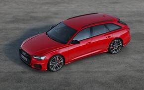 Picture asphalt, red, background, Audi, universal, 2019, A6 Avant, S6 Before