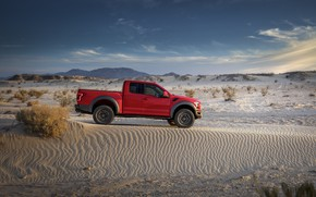Picture Ford, Sand, Desert, Raptor, F-150, Dune, 2019, Ford F-150 Raptor