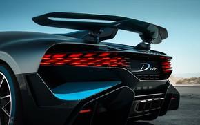 Picture Bugatti, supercar, spoiler, rear view, 2018, hypercar, Divo