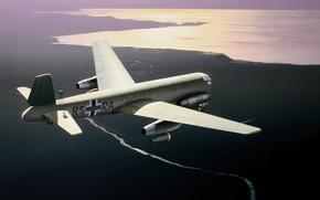 Picture bomber, war, art, airplane, ww2, Junkers Ju 287