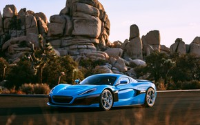 Picture supercar, 2018, Rimac, electric car, C-Two, California Edition