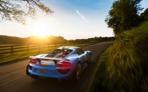 Picture Auto, Road, Porsche, Machine, Movement, Car, 918, Rendering, Porsche 918, Transport & Vehicles, Sergey Poltavskiy, …