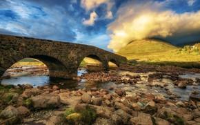 Picture bridge, Scotland, Scotland, Isle of Skye, Sligachan