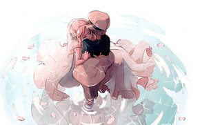 Picture water, girl, love, guy, wedding, Darling In The Frankxx, Cute in France